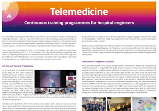 [Case Study] Telemedicine: Continuous training programmes for hospital engineers (2019.02) 썸네일